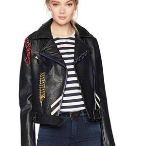 NWT Bagatelle Women's Leather Biker Jacket